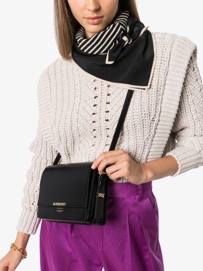 black Grace Leather cross body Bag