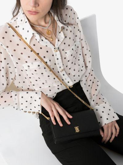 black Hannah leather shoulder bag