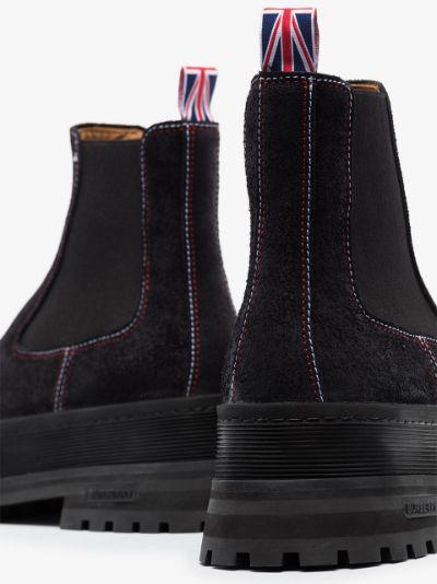 black Jeffery leather Chelsea boots