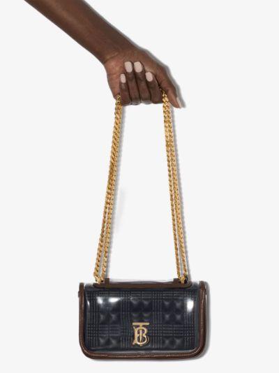 black Lola mini leather cross body bag