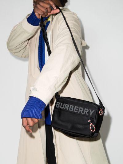 black Paddy logo messenger bag