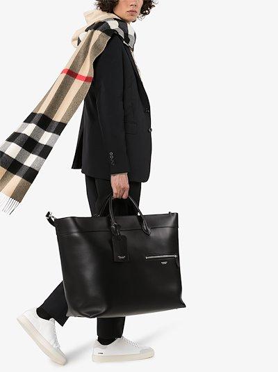 black Sanford leather tote bag
