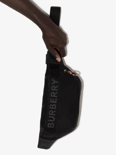 Black Sonny Logo cross body Bag
