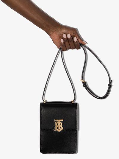 Black Valencia leather cross body bag