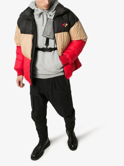 Branston colour block puffer jacket