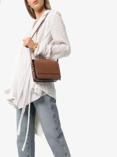 brown grace leather cross body bag