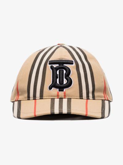brown Icon stripe baseball cap