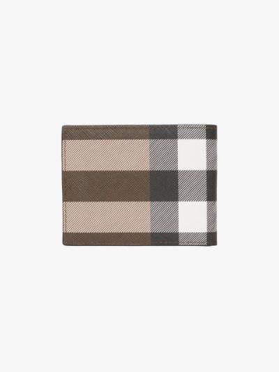brown Kier House check bifold wallet