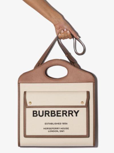 brown mini Horseferry logo tote bag