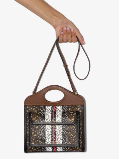 brown mini Monogram print tote bag