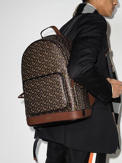 brown Rocco Monogram print backpack