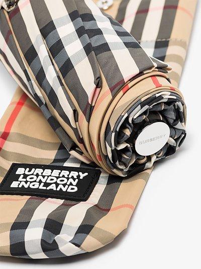 brown Trafalgar Vintage check umbrella