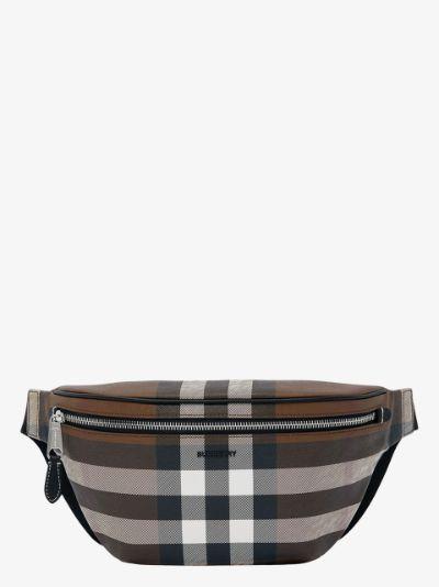 check pattern belt bag