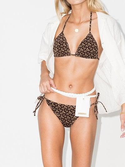 Cobb Monogram print bikini