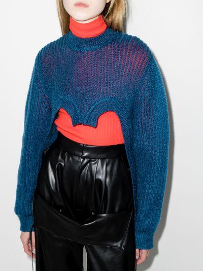 cutout knit sweater