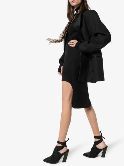 cutout wool pencil skirt