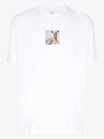 deer print cotton T-shirt