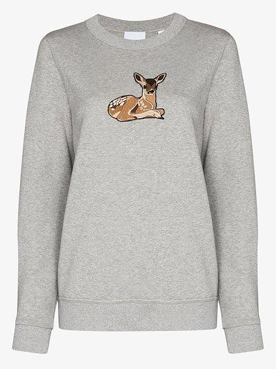 Fairhall deer embroidered sweatshirt