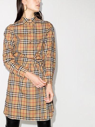 Giovanna vintage check shirt dress