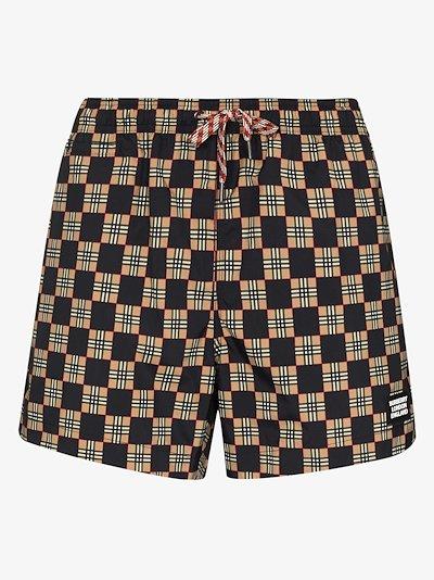 Greenford Vintage check swim shorts
