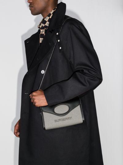grey Pocket canvas cross body bag