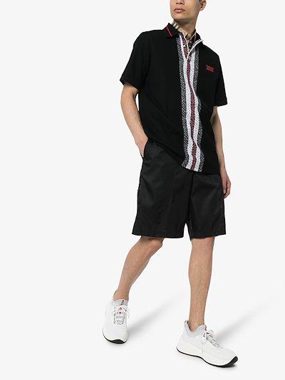 Jetford stripe cotton polo shirt