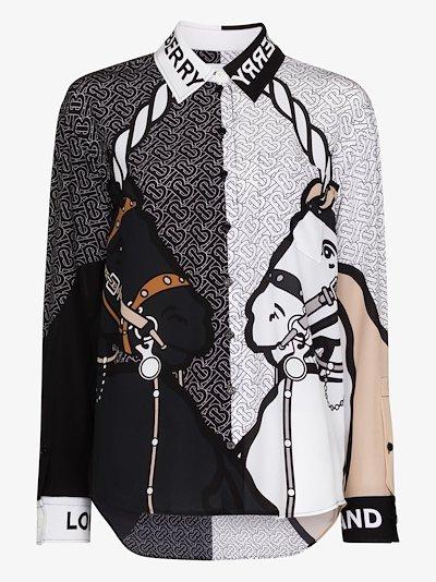 Juliette unicorn print silk shirt