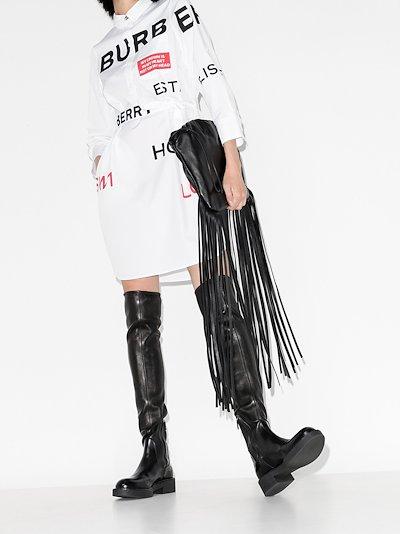 Kiley logo print cotton shirt dress
