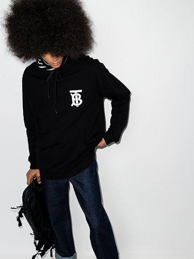 Landon monogram print hoodie
