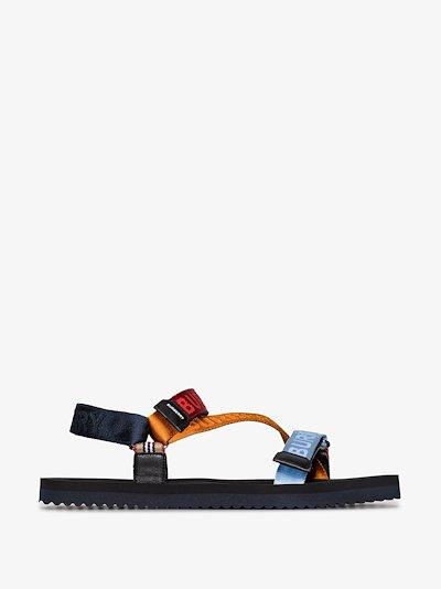 logo-jacquard sandals