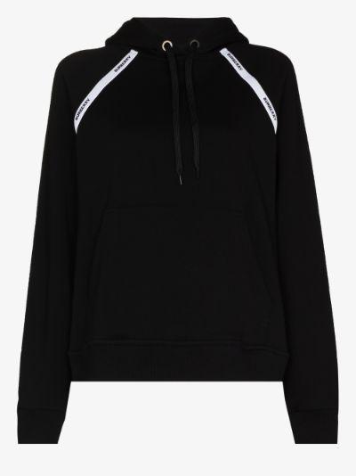 logo tape oversized hoodie