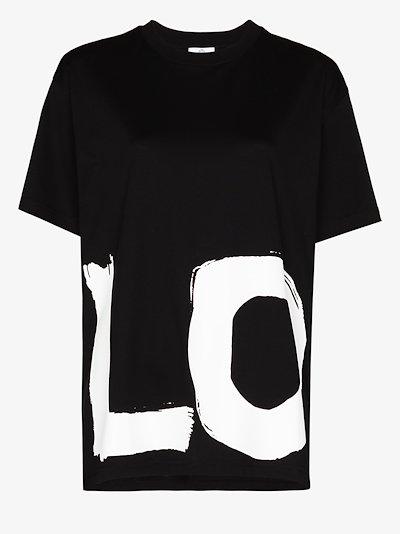 love print oversized T-shirt