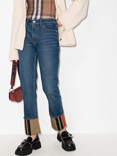 Marissa Icon stripe cuffed jeans