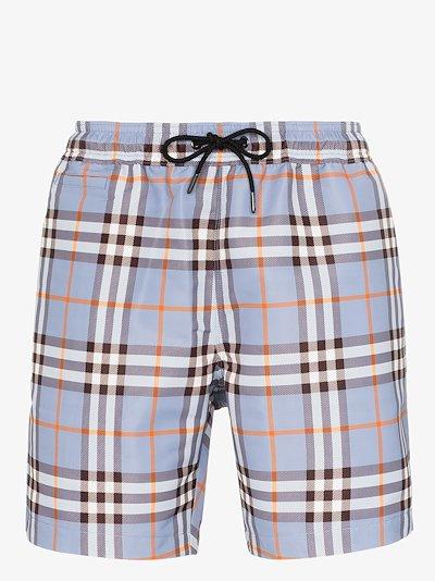 Martin Vintage check swim shorts