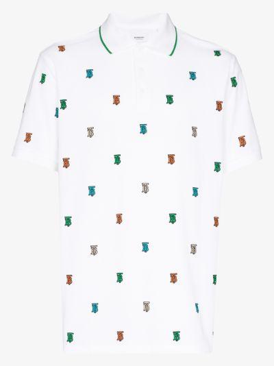 Monogram cotton polo shirt