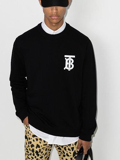 monogram logo sweatshirt