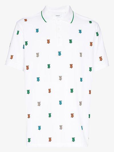 Monogram print polo shirt