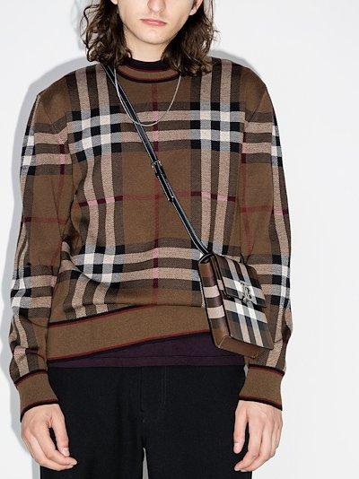 Naylor large check sweatshirt