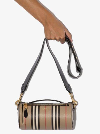neutral Boston Icon stripe bag