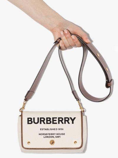 neutral Hackberry Horseferry print cross body bag
