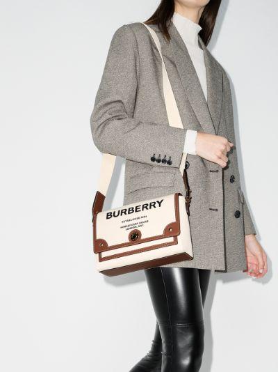 neutral Note Horseferry print shoulder bag