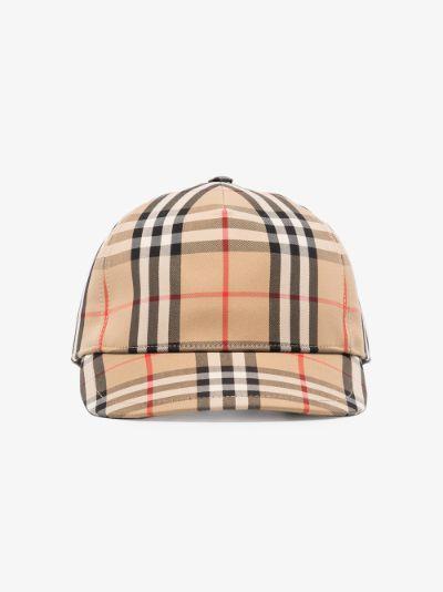 neutral Vintage check baseball cap