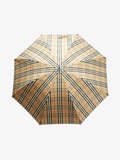 neutral Vintage check umbrella