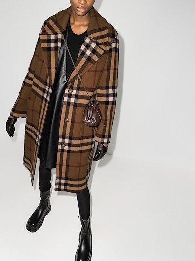 Purton Vintage Check Wool Coat