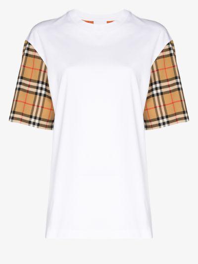 Serra Vintage Check Sleeve T-shirt