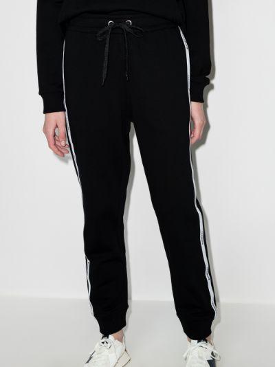 Side stripe logo track pants