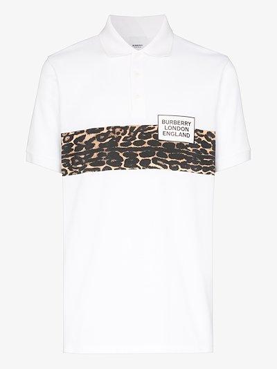 Somerville leopard print polo shirt