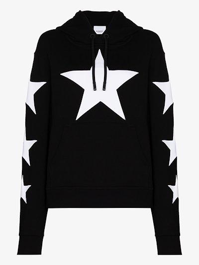 star print hoodie