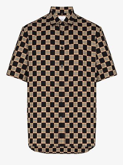 trulo checked short sleeve shirt