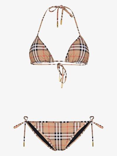 Vintage check bikini